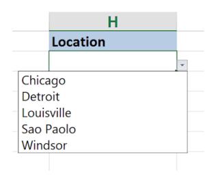 dropdown locations